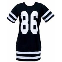 Vestido Curto Casual Esportivo Swag Trends Moda Algodao 2017