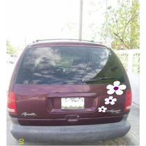 Jgo De 3 Calcomanias De Flores Para Tu Camioneta