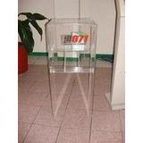 Buzon Acrilico Con Porta Tripticos Liquidacion!!!