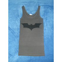 Blusa Camiseta Dark Knight Batman Logo Escudo Gris