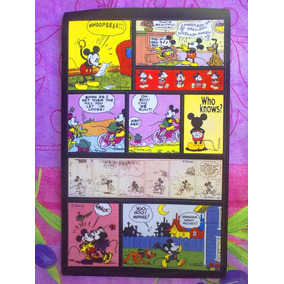 Mickey Mouse Set De Calcomanias Caricaturas Vintage