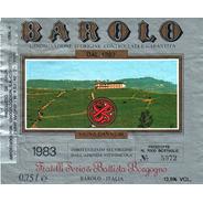 Etiqueta Barolo 1983