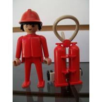 Bombero Con Extintor Playmobil