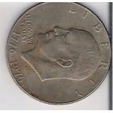 One Dollar Conmemorativo Independencia Usa Eisenhower Idd