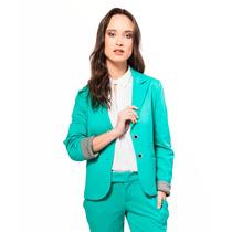 Blazer Saco Elastizado Verde Giacca
