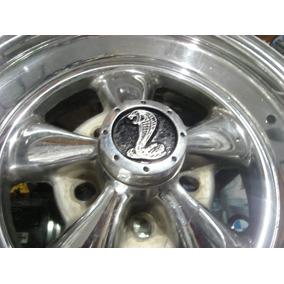 Centros Rin Cragar 4 Piezas Metalico Shelby Cobra Anti Robo