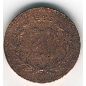 Super Ganga, 20 Centavos De Cobre, Año 1935