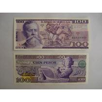 Billetes Antiguos De 100 Pesos. Sin Circular.