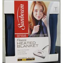 Cobertor Electrico Sunbeam Cama Individual Lavable A Maquina