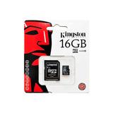Memoria Kingston Micro Sd Clase10 16gb Celular Camara Tablet