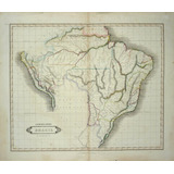 Mapa Peru, Brazil & Paraguay, Por Lizars, 1828.