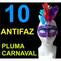 10 Antifaces Con Pluma Para Fiesta Eventos Animación Antifaz