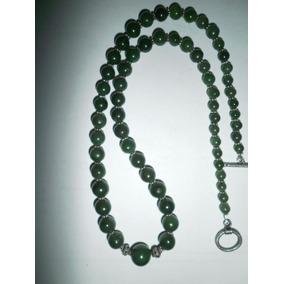 Precioso Collar De Jade Verde Y Plata 925