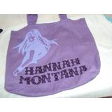 Bolsa De Tecido Hannah Montana Cor Roxa 2b