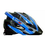 Capacete Ciclismo Adulto Raptor C/ Regulagem - Azul / Graf M