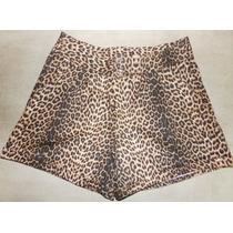 Shorts Oncinha Da Moda - Lindo - A Pronta Entrega - Promoção