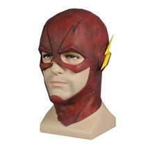 Flash Máscara Barry Allen Cosplay Super Herói Liga Justiça