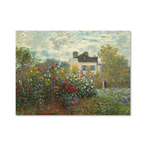 The Artists Garden In Argenteuil Canvas Art By Claude Mon
