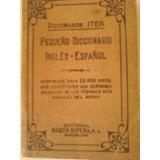 Pequeño Diccionario ..iter ..inglés Español Editorial Sopena