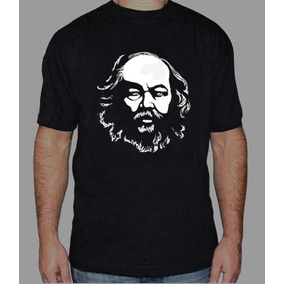 Bakunin Anarquia Remera Estampada Con Vinilo Inalterable