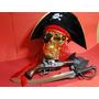 Fantasia Jack Sparrow Caribe Pirata Espada Gancho Chapeu