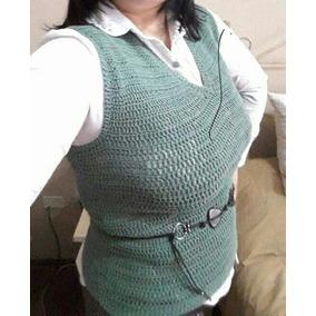 Chaleco Tejido Al Crochet