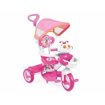 Triciclo Infantil Robô Homeplay Rosa Capota Som E Luzes