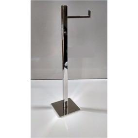 Papeleira Quadrada Porta Papel Higiênico De Chão Inox