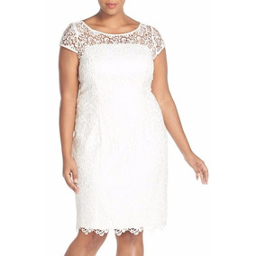 Vestido de noiva renda guipir curto