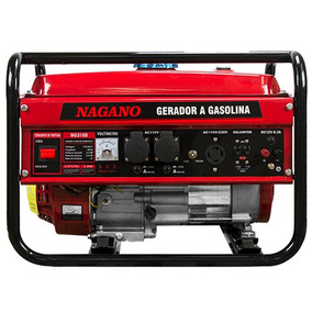 Gerador À Gasolina 3kva Mono Part. Manual Bivolt - Nagano
