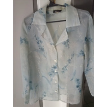 Camisa De Gasa Vintage Floreada!! Increible!