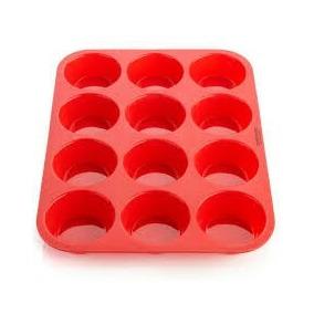 Molde De Silicona Goma Para Muffins Cupcakes X12 Levysbazar