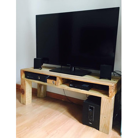 mesa para tv plasma o pantalla reciclada