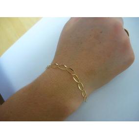 Pulseira Feminina Ouro /18k/750 /elos 5x10 / 20cm 1,3 Gr