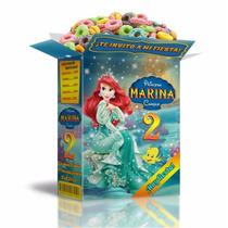 Kit Imprimible Sirenita Princesa Ariel Cotillón Infantil