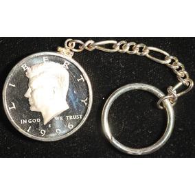 Moneda Usa Medio Dolar 1996 Llavero Sin Circular Proof