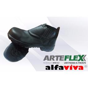 Botina Segurança Elastico Preta, Bico Composite, Arteflex