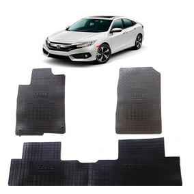 Tapete Interno Honda Civic 2017 Com Trava Reforçado 3 Peças