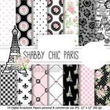 Kit Imprimible Pack Fondos Paris Torre Eiffel 1 Clipart