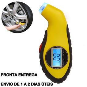 Medidor Com Lanterna De Pressão Calibrador Digital Para Pneu