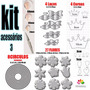 Kit Acessorios 3 Para Máquina Corta Feltro