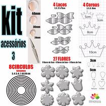 Kit Acessorios 3 Para Máquina Corta Feltro + Máquina