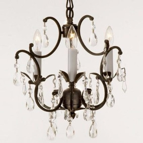 Wrought Iron Crystal Chandelier Lighting Country French