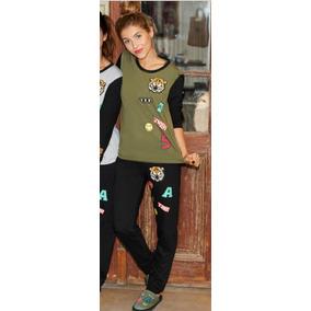 Pijama De Invierno Sweet Victorian 641-17 Linea Patches Dor