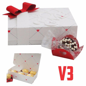 Caixa Chocolate 6 Doce Bombom Namorados - Arquivo Silhouette