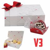 Caixa 6 Chocolates Amor Dia Dos Namorados - Molde Silhouette