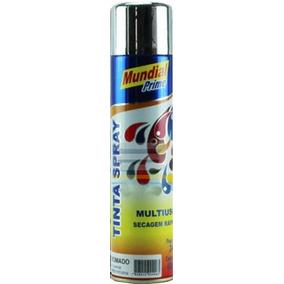 Tinta Spray Cromado Metálico Automotiva Carro Moto Roda