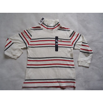 Camisa Baby Gap Manga Longa E Gola Alta 2/4 Anos