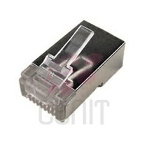 30pz Plug Blindado Cat 6 Rj45 Conector Cable Red Ftp