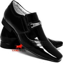 Sapato Social Masculino Couro Verniz Legitimo Clássico Franc